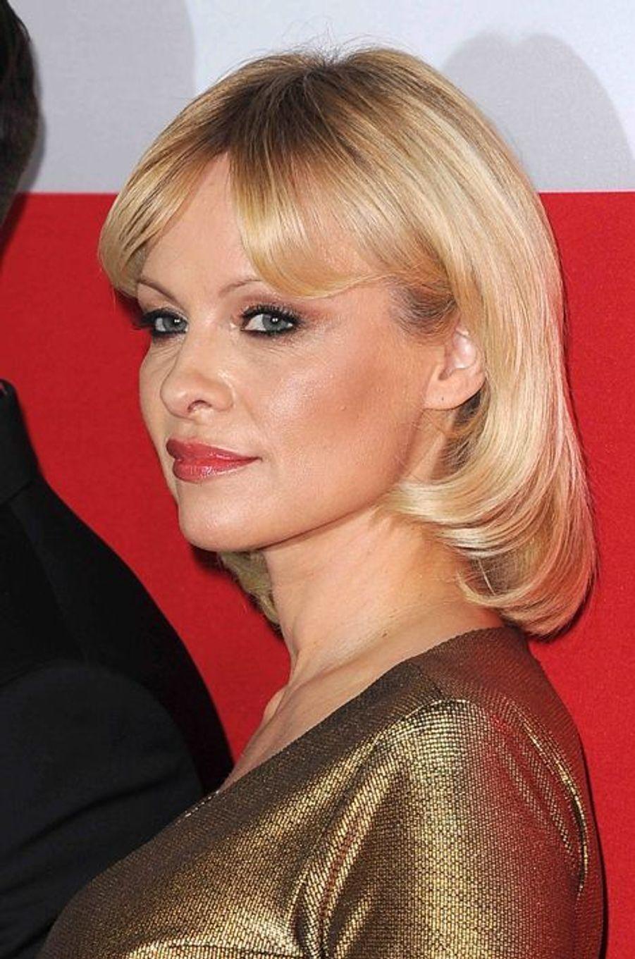 Pamela Anderson à Los Angeles le 12 mars 2015