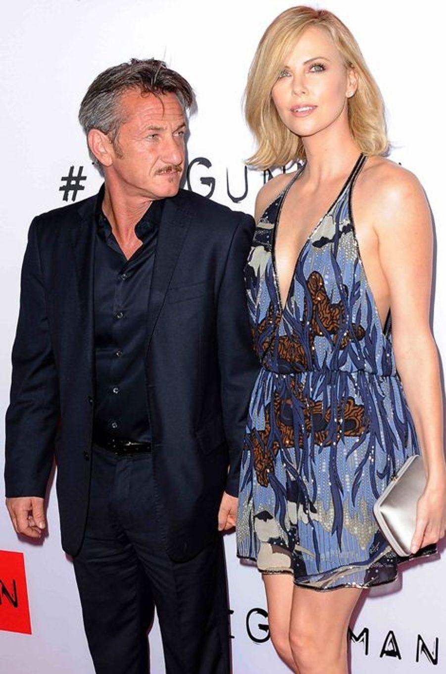 Sean Penn et Charlize Theron à Los Angeles 12 mars 2015