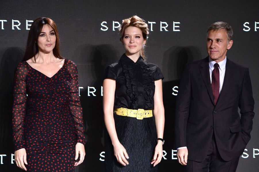 Monica Bellucci, Léa Seydoux et Christoph Waltz