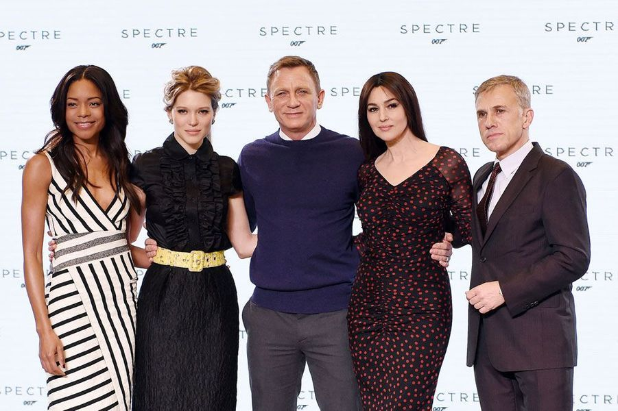Naomie Harris, Léa Seydoux, Daniel Craig, Monica Belluccio et Christoph Waltz