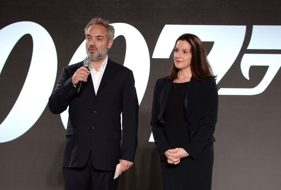 Sam Mendes et la productrice du film