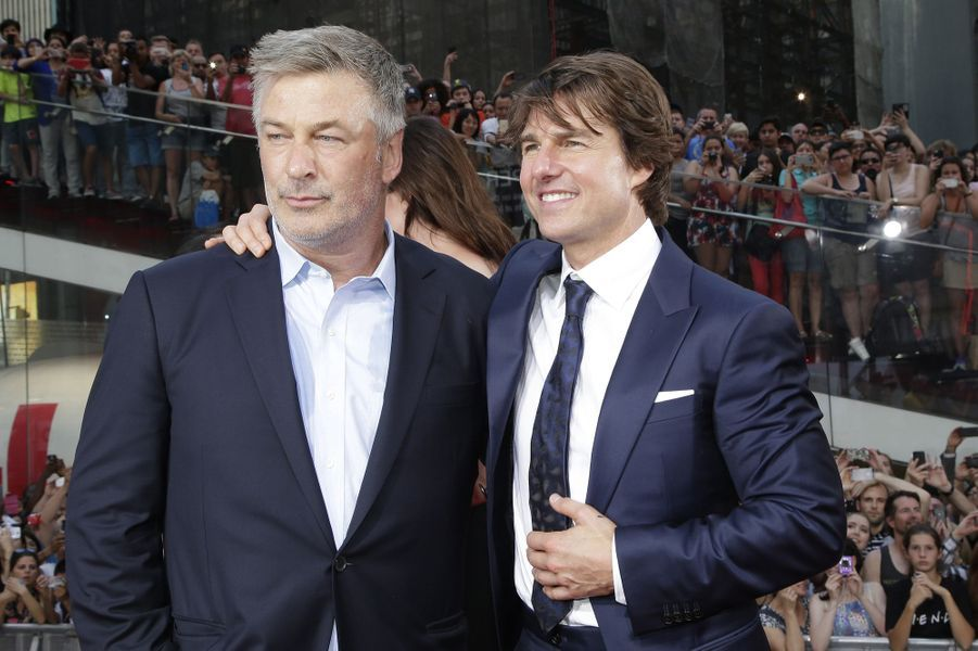 Alec Baldwin et Tom Cruise à New York le 27 juillet 2015