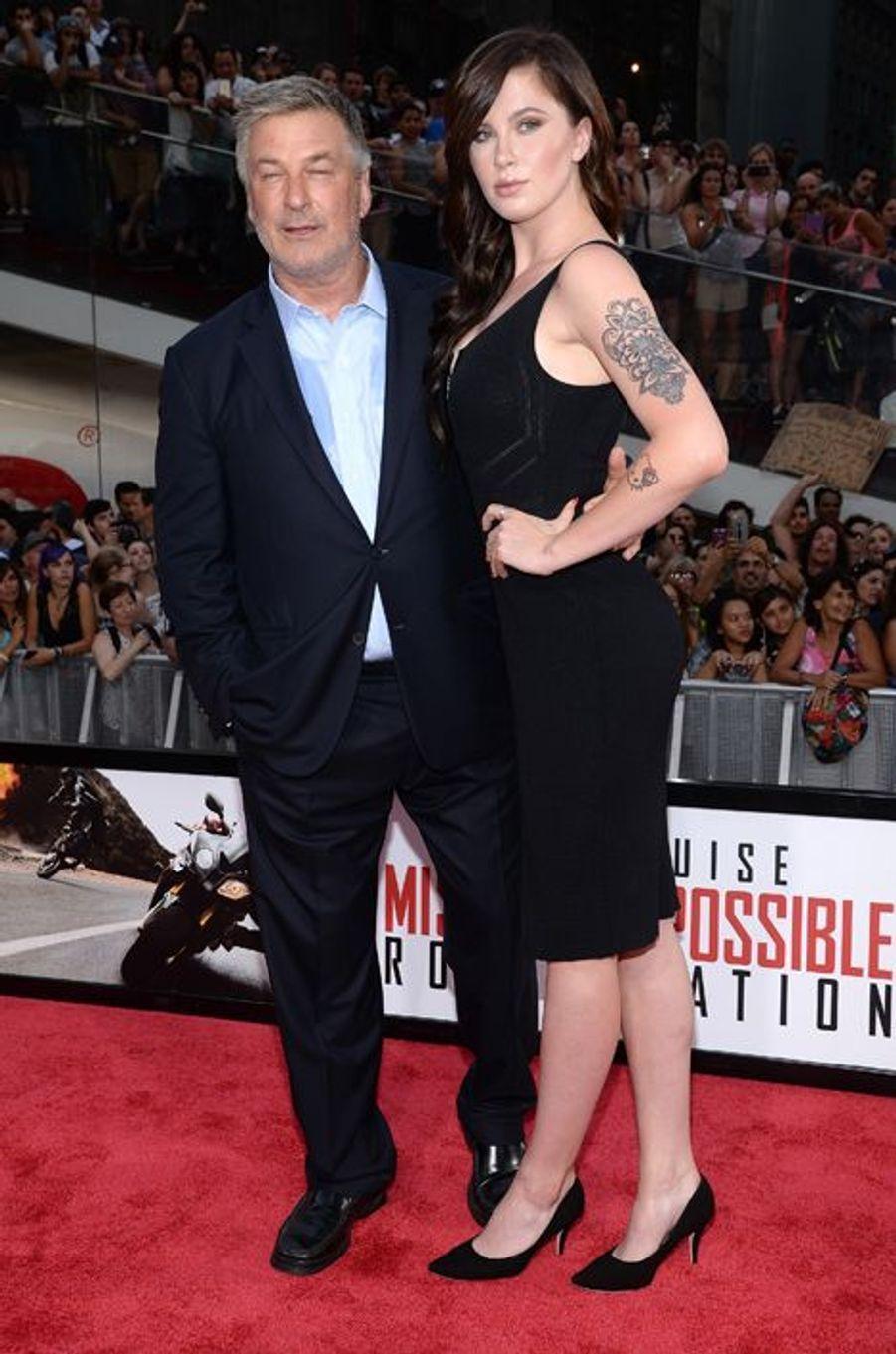 Alec et Ireland Baldwin à New York le 27 juillet 2015