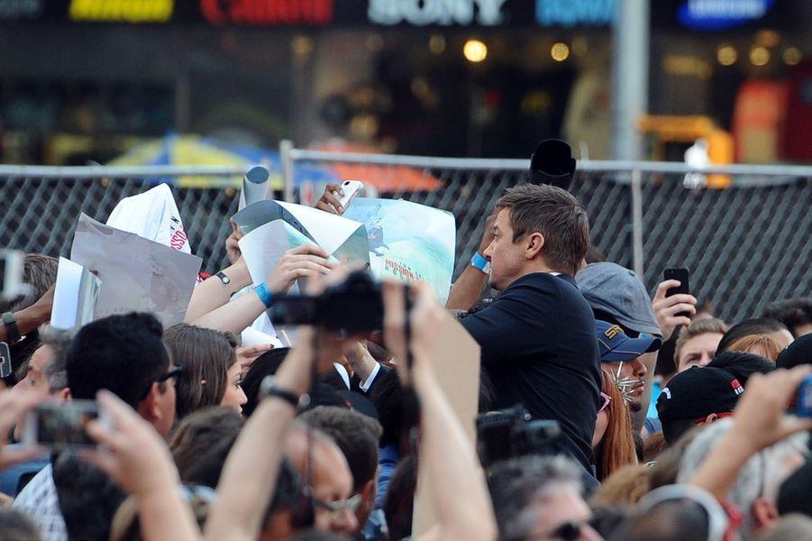 Jeremy Renner à New York le 27 juillet 2015