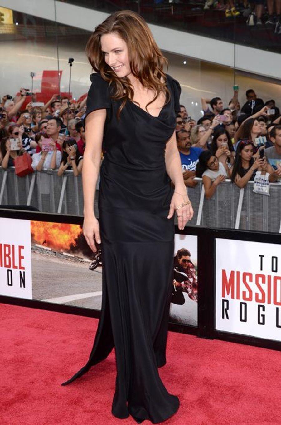 Rebecca Ferguson à New York le 27 juillet 2015