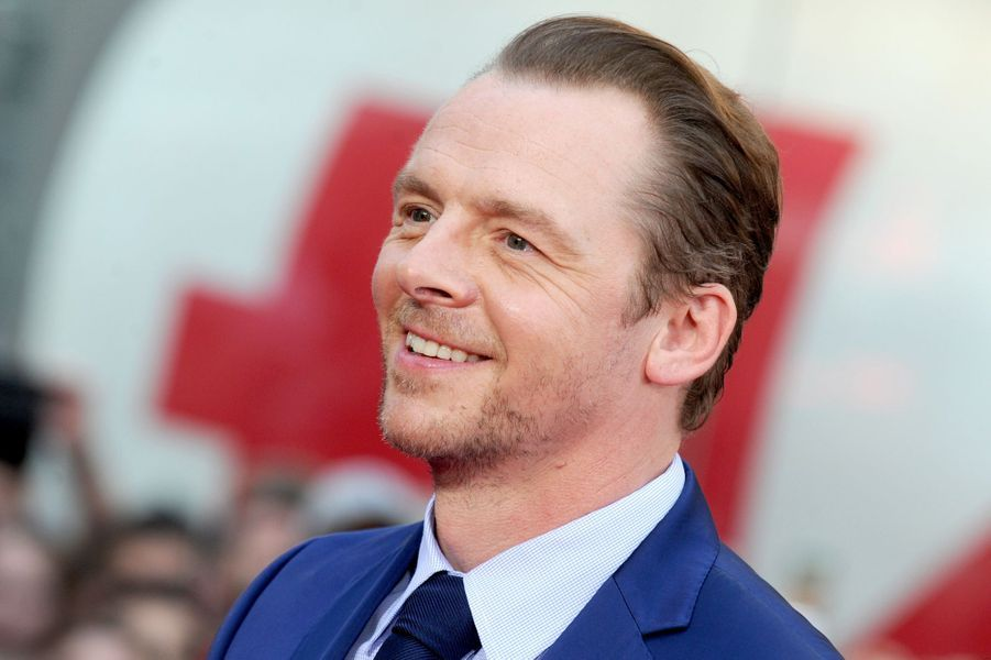 Simon Pegg à New York le 27 juillet 2015