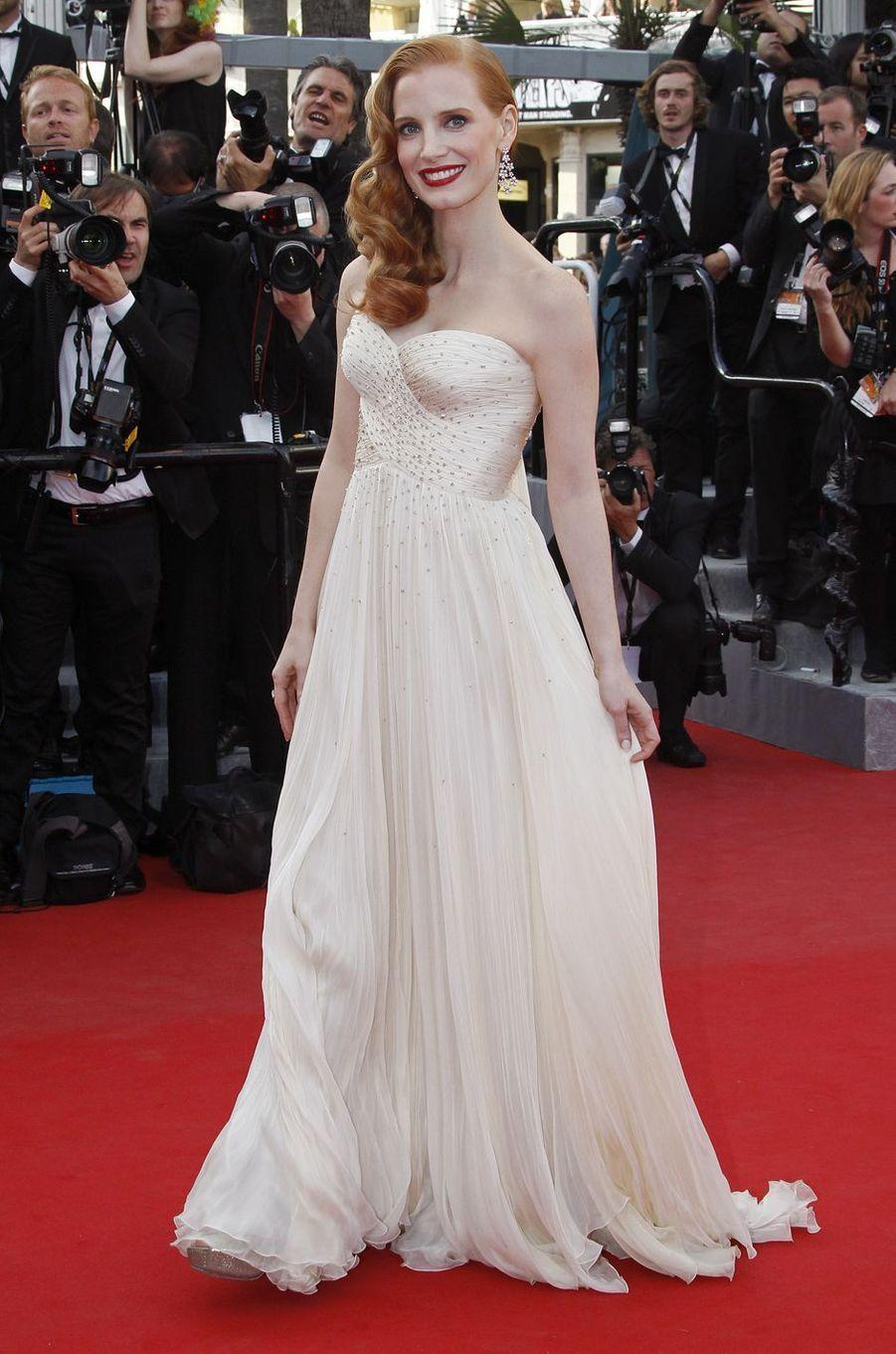 Jessica Chastain au Festival de Cannes en 2012.