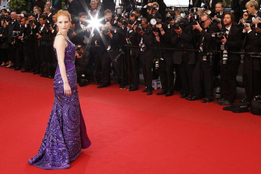 Jessica Chastain au Festival de Cannes en 2013.