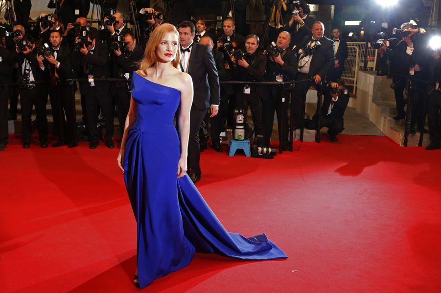 Jessica Chastain au Festival de Cannes en 201'.