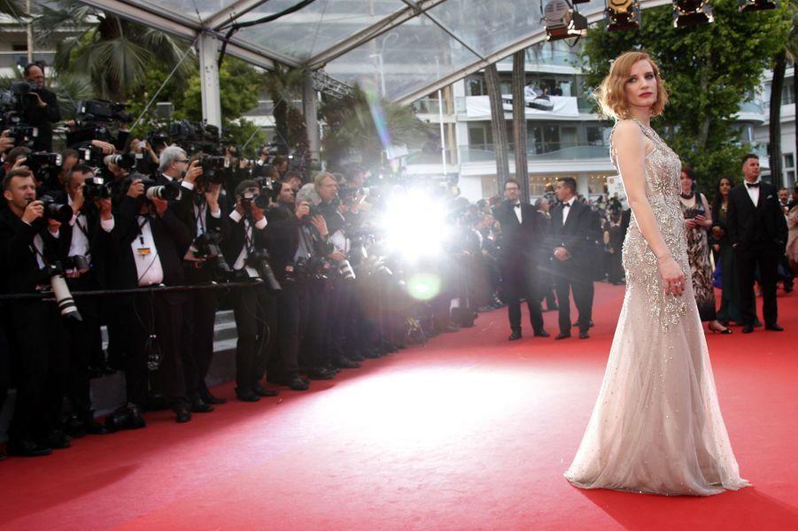 Jessica Chastain au Festival de Cannes en 2016.