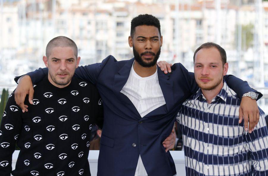 Damien Bonnard, Djibril Zonga et Alexis Manentilors du photocall du film «Les Misérables» le 16 mai 2019