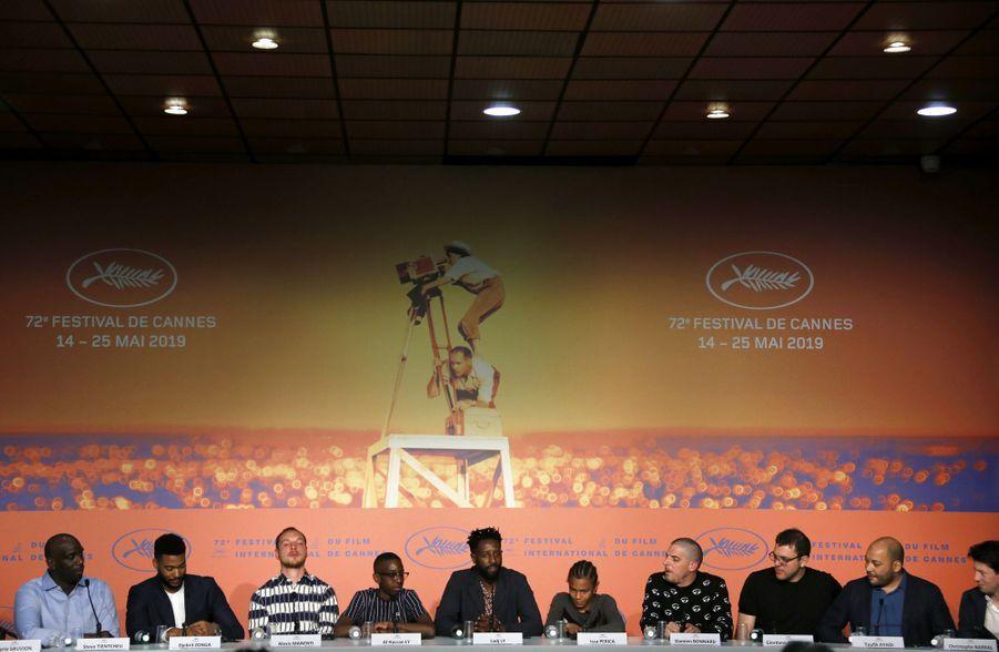 L'équipe du film lors de la conférence de presse des «Misérables» le 16 mai 2019