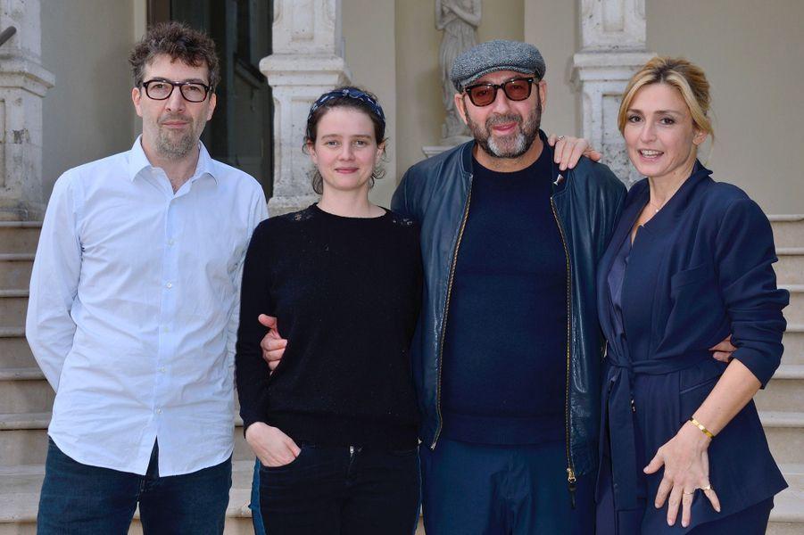 François Desagnat, Pauline Etienne,Kad Merad et Julie Gayet au Festival du film de Sarlat, jeudi 15 novembre