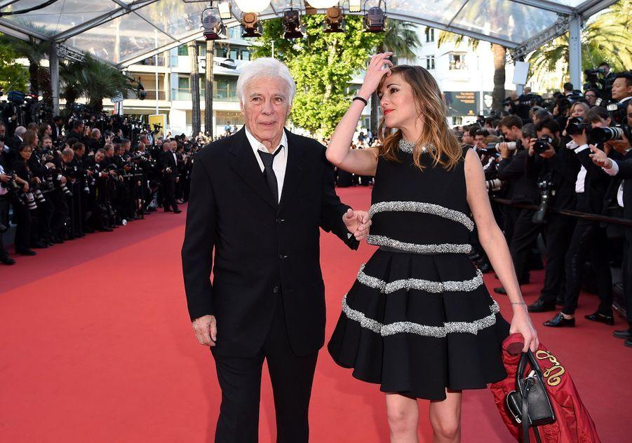 Guy Bedos avec sa fille Victoria au Festival de Cannes, en mai 2016.