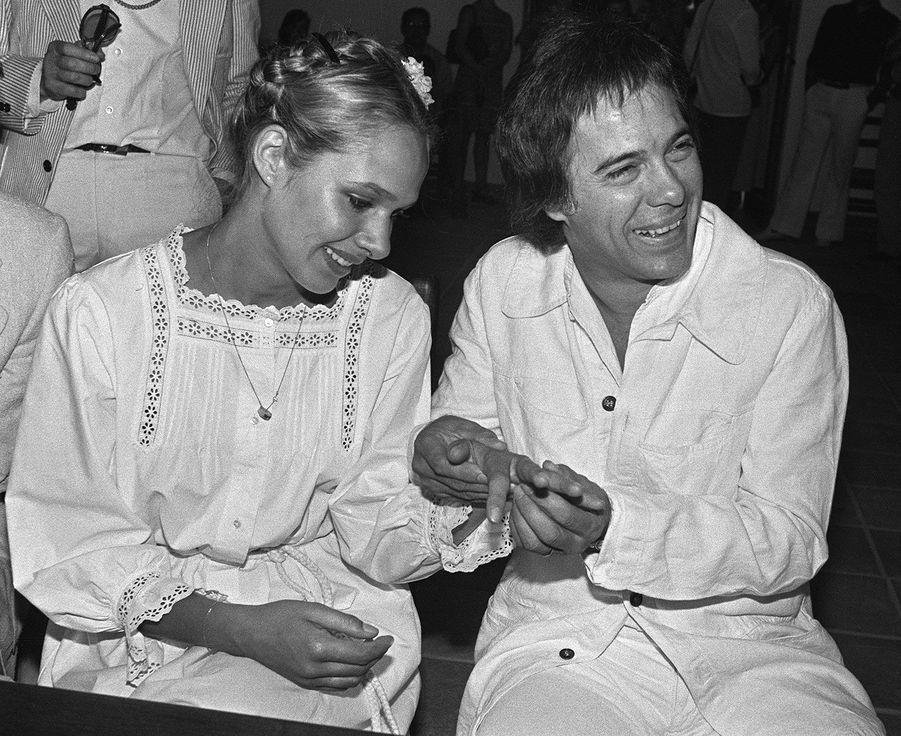 Mariage de Guy Bedos et Joëlle Bercot, en août 1978, à Tourrettes-sur-Loup, dans les Alpes-Maritimes. Ils auront deux enfants ensemble : Nicolas et Victoria.