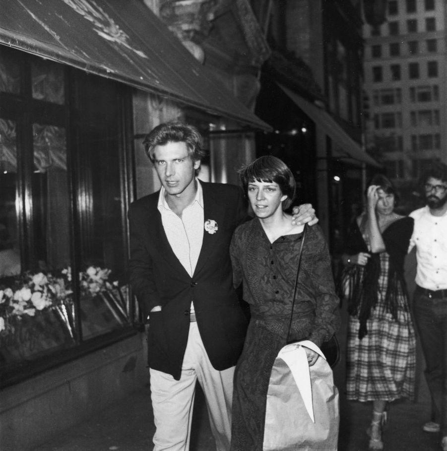 Harrison Ford avec sa première épouse Mary Marquardt en 1977