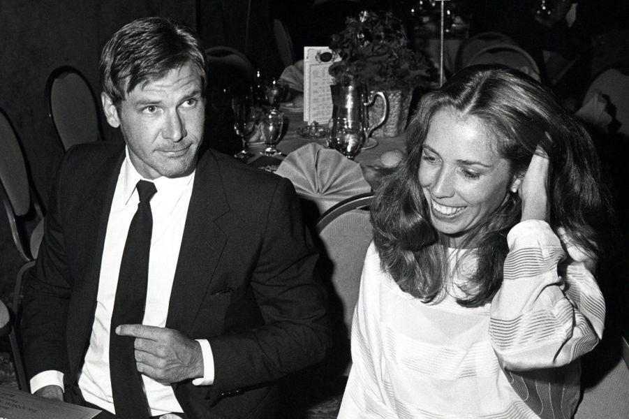 Harrison Ford avec sa seconde épouse Melissa Mathison en 1983