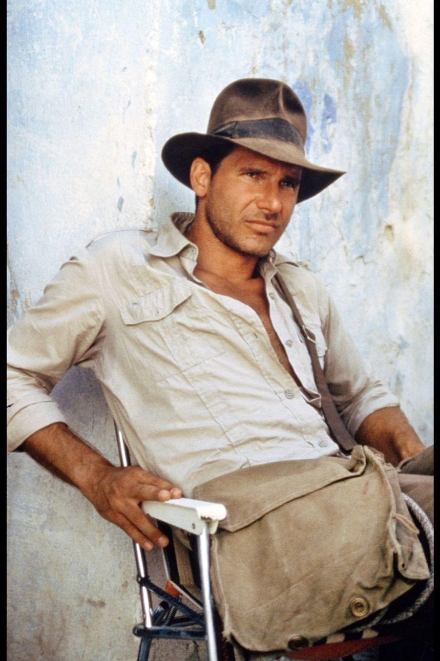 """Harrison Ford dans """"Indiana Jones et le temple maudit"""", en 1984"""