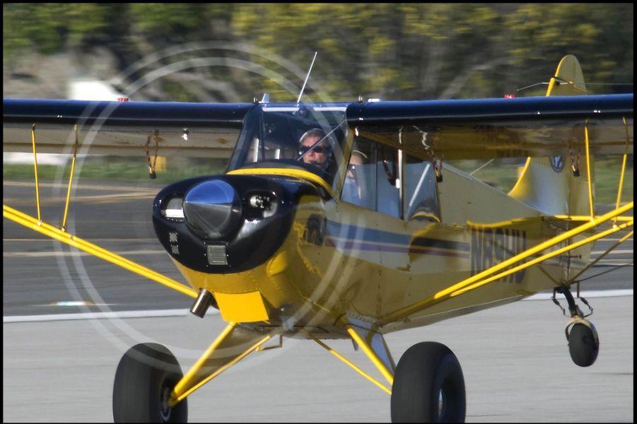 Harrison Ford dans son avion en 2009
