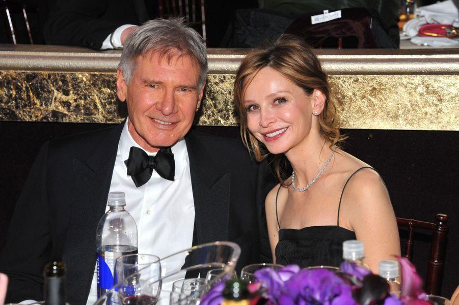 Harrison Ford et son épouse Calista Flockhart en 2012