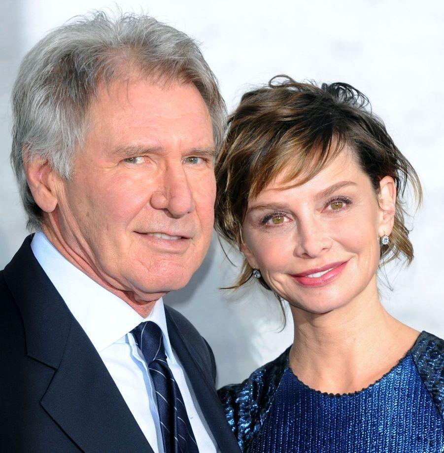 Harrison Ford et son épouse Calista Flockhart en 2013