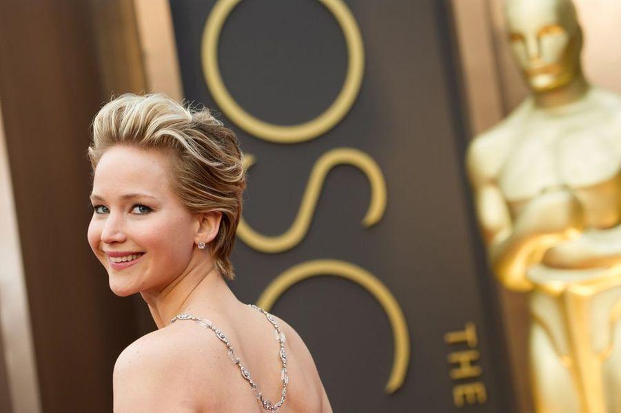 Jennifer Lawrence à la cérémonie des Oscars 2014, le 2 mars 2014