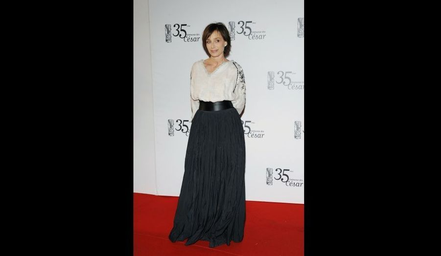 L'an dernier, elle était présente aux César. Nommée dans la catégorie Meilleure actrice pour «Partir», c'est Isabelle Adjani qui repartira avec le trophée pour son rôle dans «La journée de la jupe».