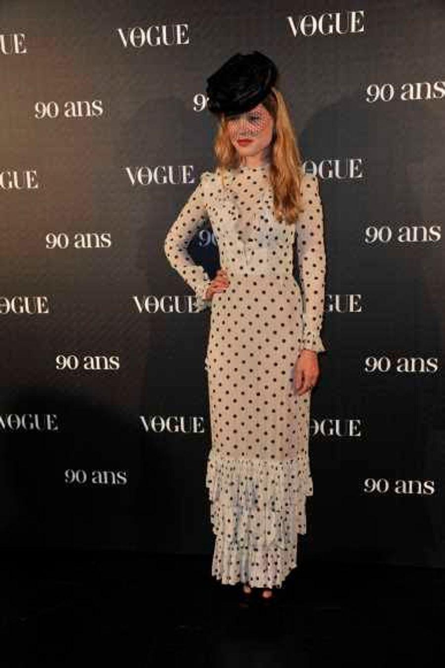 Férue de mode, on l'aperçoit souvent aux défilés lors de la Fashion Week. En octobre, elle assisté à la soirée anniversaire des 90 ans de Vogue donnée en marge de la semaine de la mode parisienne.
