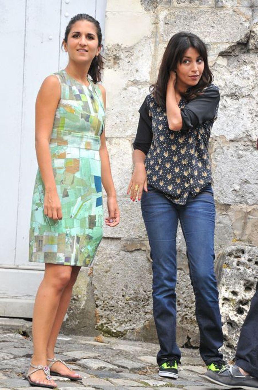 """Sur le tournage de """"Nous York"""" avec Géraldine Nakache, 2012"""