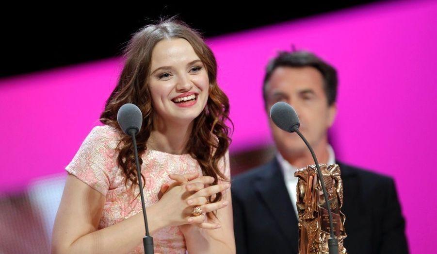 Sara Forestier, surprise d'avoir reçu le César de la Meilleure actrice pour son rôle dans Le Nom des gens de Michel Leclerc.
