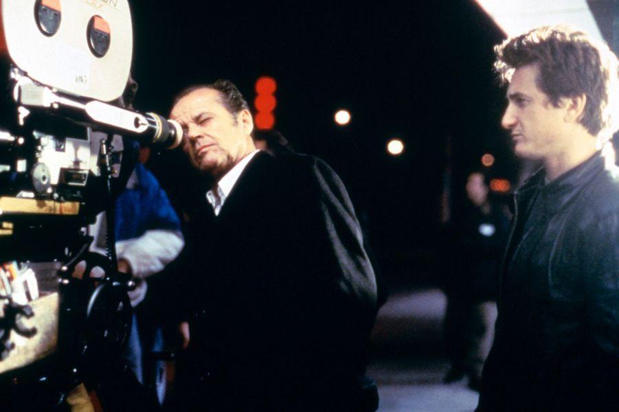 """Sur le tournage de """"Crossing Guard"""", 1995"""