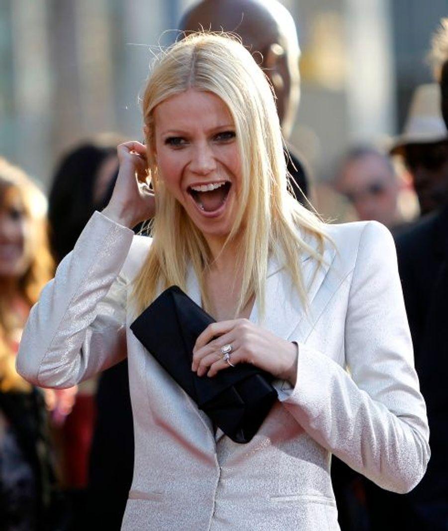 La bonne humeur était de mise, comme en témoigne le rire de Gwyneth Paltrow.