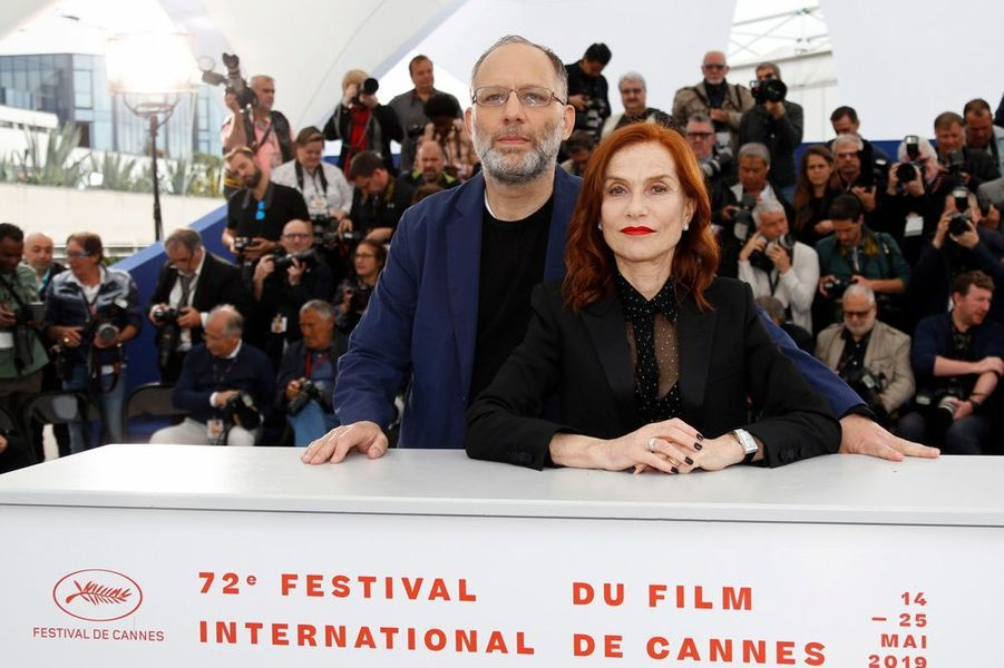 Ira Sachs etIsabelle Huppert au Festival de Cannes 2019.