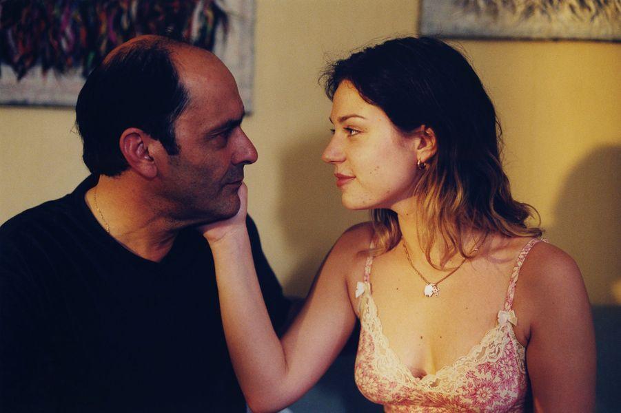 Jean-Pierre Bacri et Emilie Dequenne sur le tournage d'«Une femme de ménage» en 2002.
