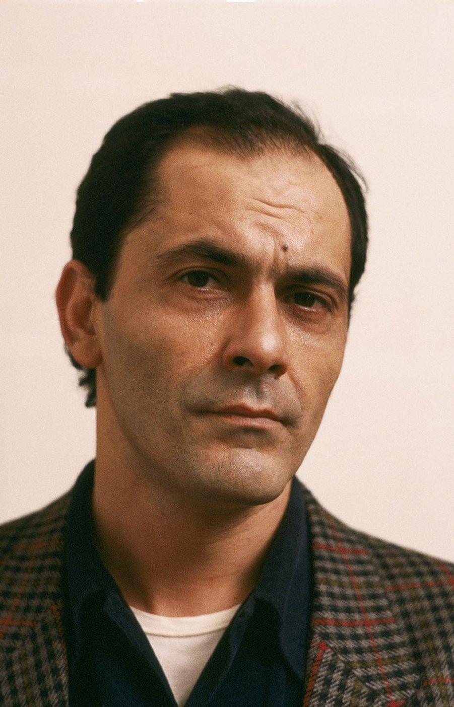 Jean-Pierre Bacri sur le tournage de «Bonjour l'angoisse» en 1988.
