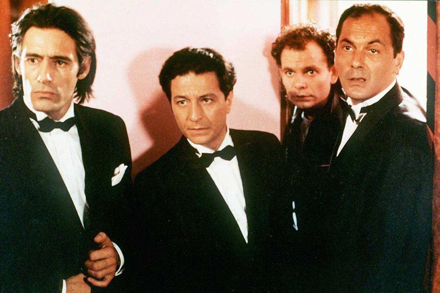 Gérard Lanvin, Christian Clavier, Jean-Pierre Darroussin et Jean-Pierre Bacri dans «Mes meilleurs copains» en 1987.