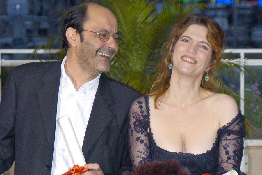 Agnès Jaoui et Jean-Pierre Bacri au Festival de Cannes en 2004. Ils obtiendront le prix du meilleur scénario pour «Comme une image.