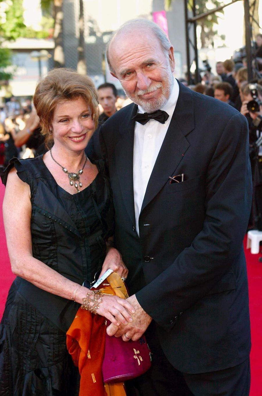 Jean-Pierre Marielle et son épouse Agathe au Festival de Cannes, en mai 2003.