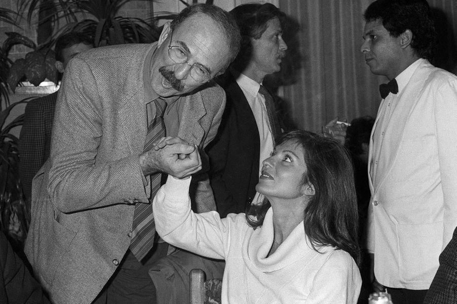 Jean-Pierre Marielle et Marie-France Pisier à Nice, en décembre 1983.