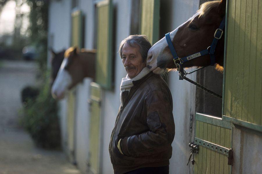31 décembre 2000 - Jean Rochefort chez lui près de Rambouillet.