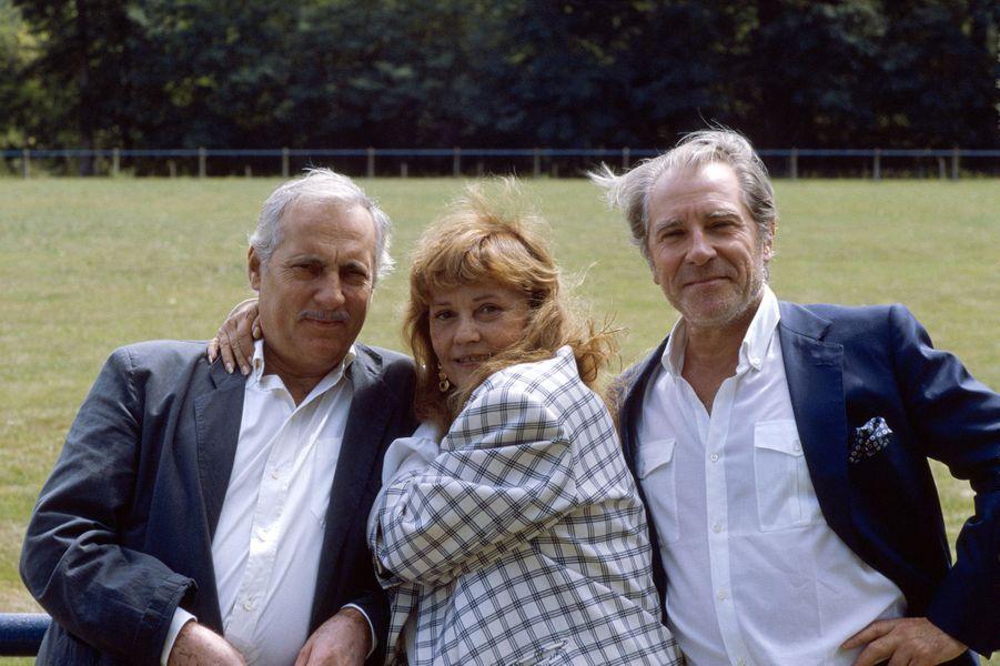 Michel Serrault, Jeanne Moreau et Jean Poiret.