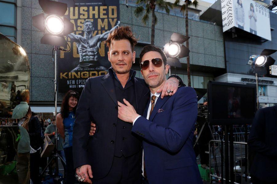 Johnny Depp et Sacha Baron Cohen