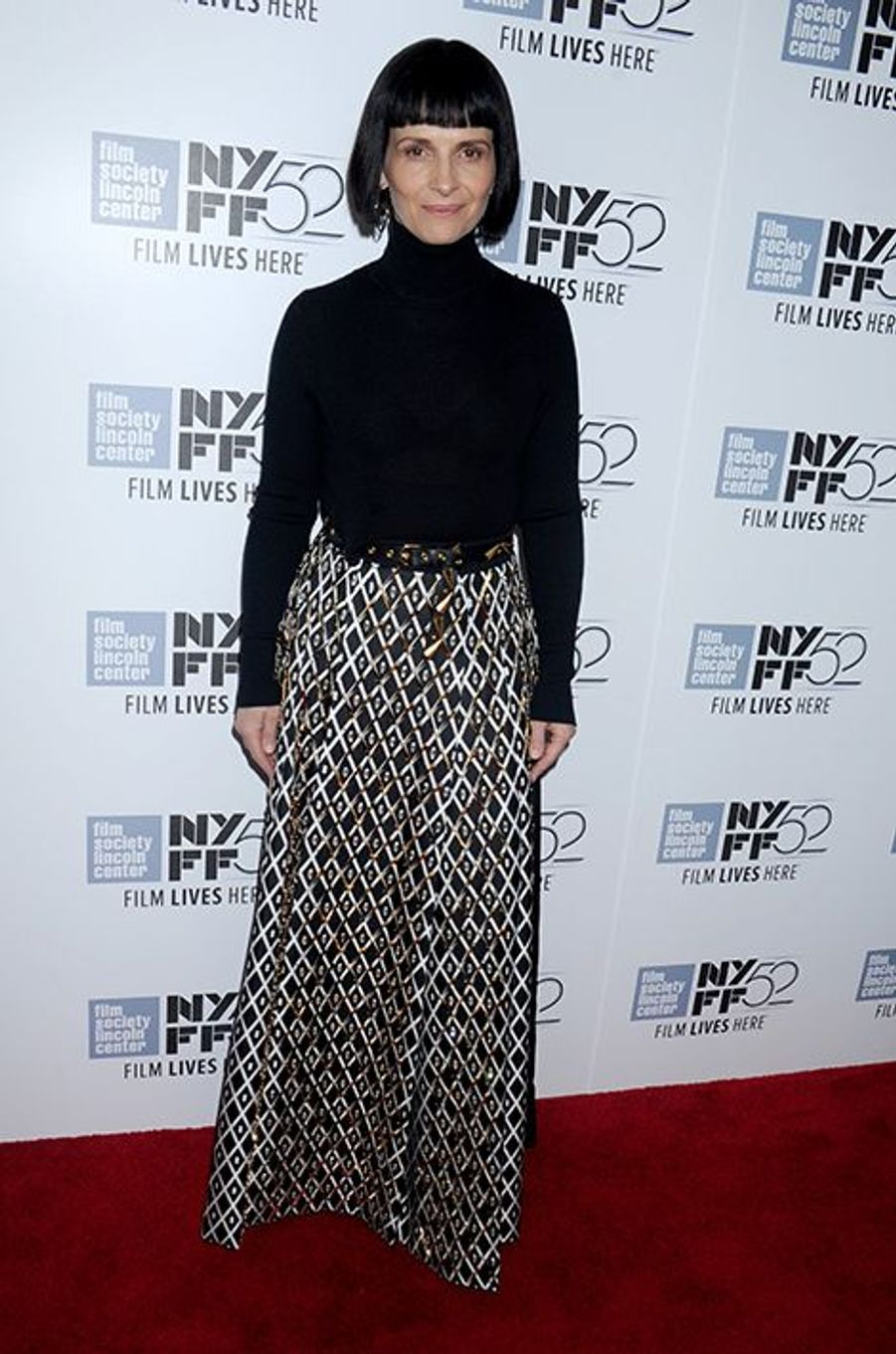 Juliette Binoche au Festival du film de New York le 8 octobre 2014