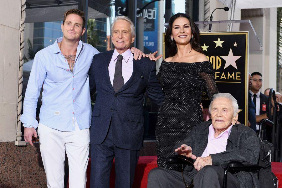 Cameron Douglas, Michael Douglas, Catherine Zeta-Jones et Kirk Douglas en 2018