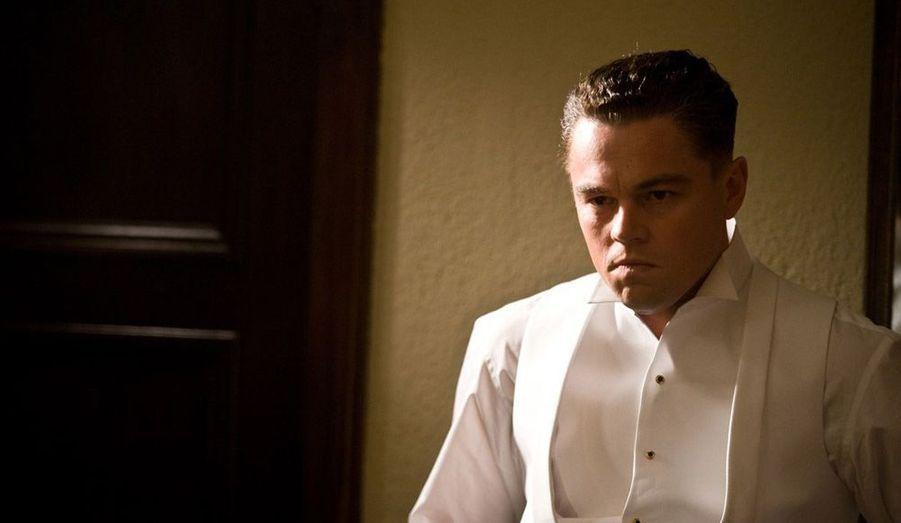 Oscars 2012. Leonardo DiCaprio en J. Edgar Hoover devant la caméra de maître Clint.