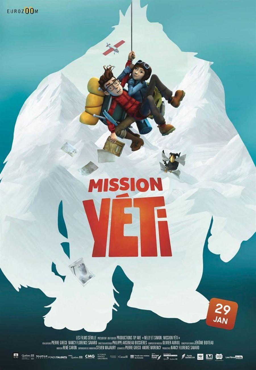 """""""Mission Yéti""""de Pierre Gréco, Nancy Florence Savard (sortie le 29 janvier 2020)."""