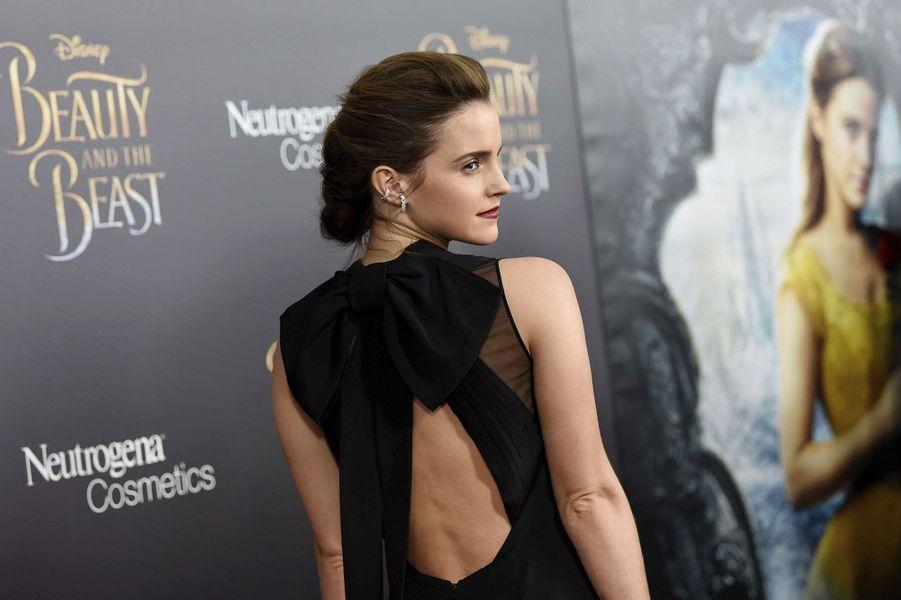 Emma Watson à l'avant-première de «La Belle et la Bête».