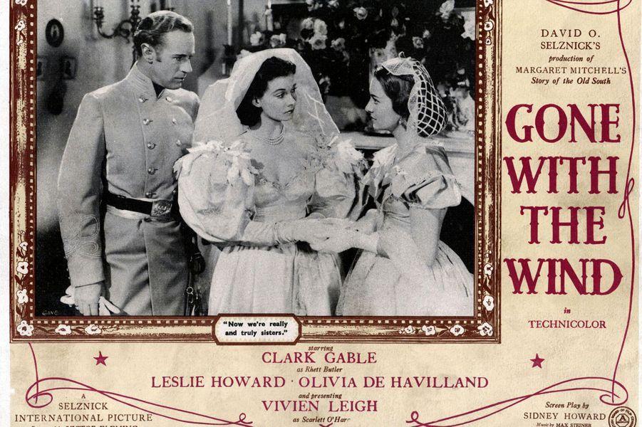 Avec Leslie Howard dans «Autant en emporte le vent».