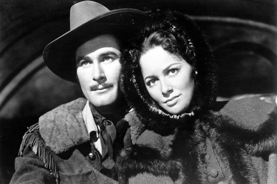 Avec Errol Flynn dans «Dodge City».