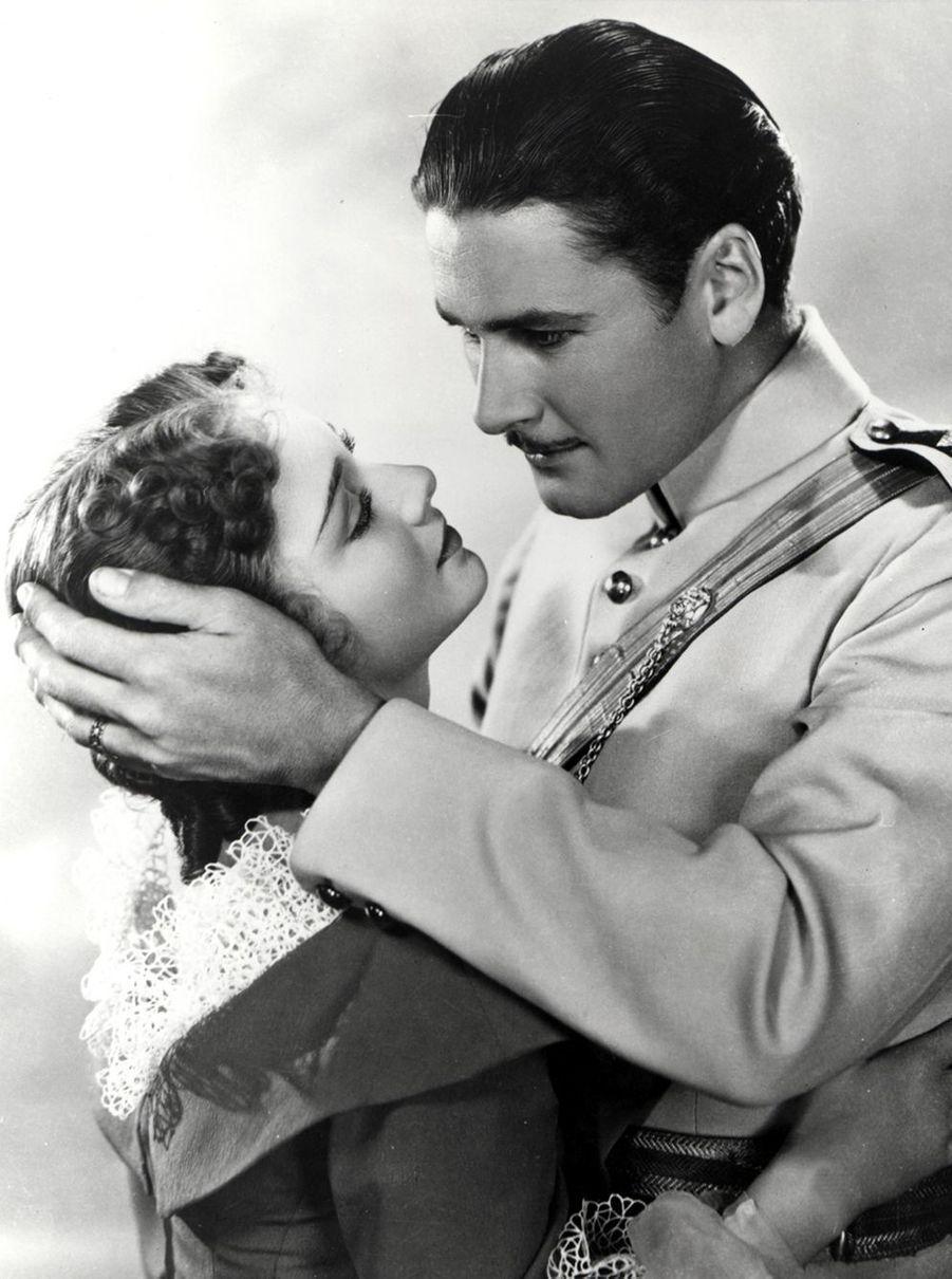 Avec Errol Flynn, dans «La Charge de la brigade légère».